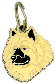 EURASIER CREAM - pet ID tag, dog ID tags, pet tags, personalized pet tags MjavHov - engraved pet tags online